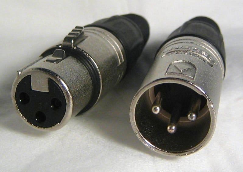 XLR cable connectors